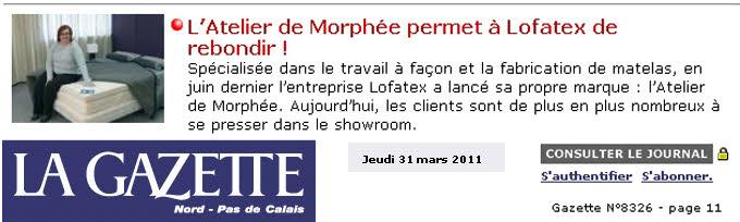 Atelier de Morphée presse