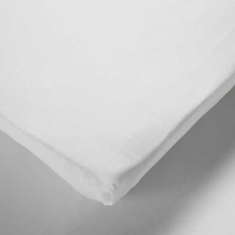 Drap housse matelas bébé 100% coton blanc 50x140