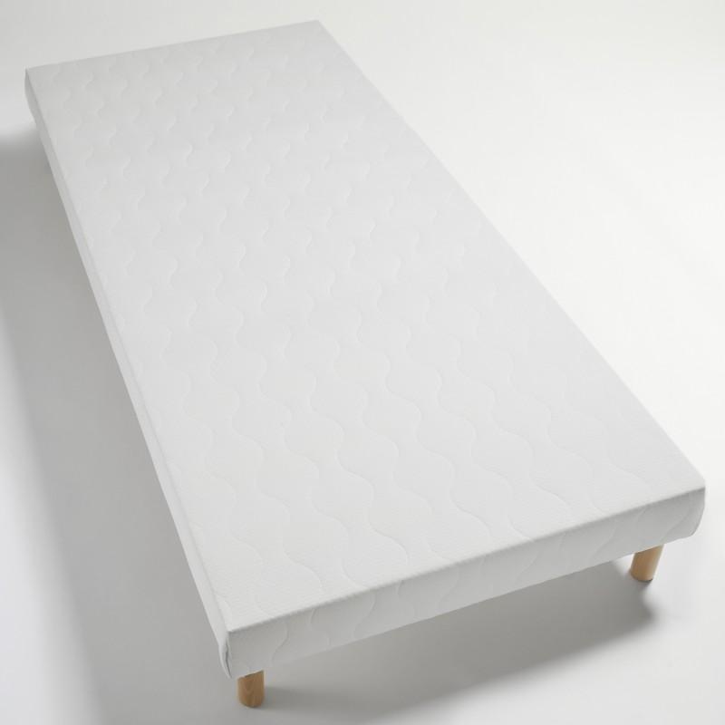 Sommier tapissier 100x200 lattes bois massif