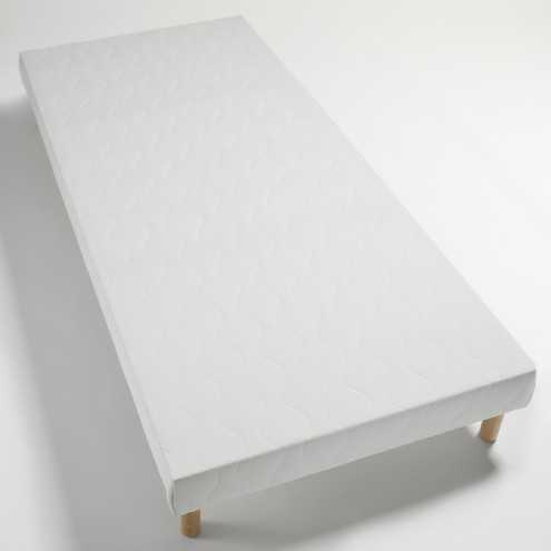 Sommier tapissier 130x180 lattes bois massif