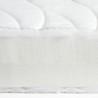 Matelas 100x190 tissu lisse en fibre de bambou
