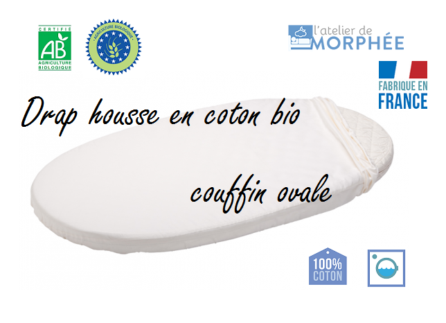 drap housse bio couffin ovale