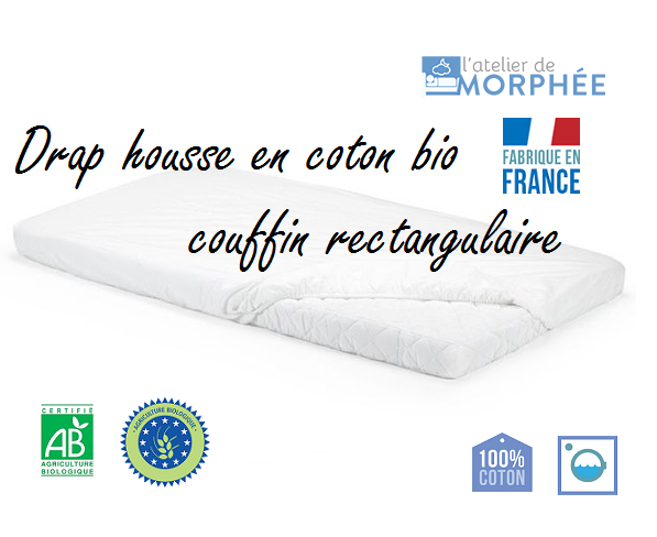 Drap housse bio couffin rectangle